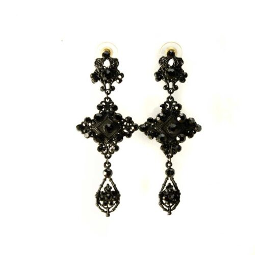 Black Statement Earrings Gothic Earrings