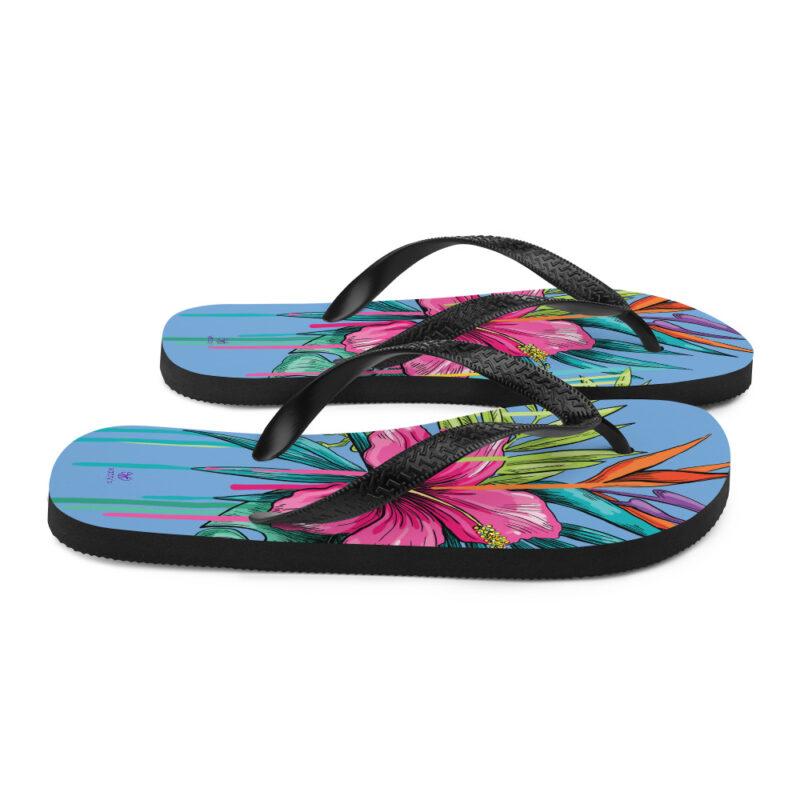 flip flops with flowers Floral Flip-Flops