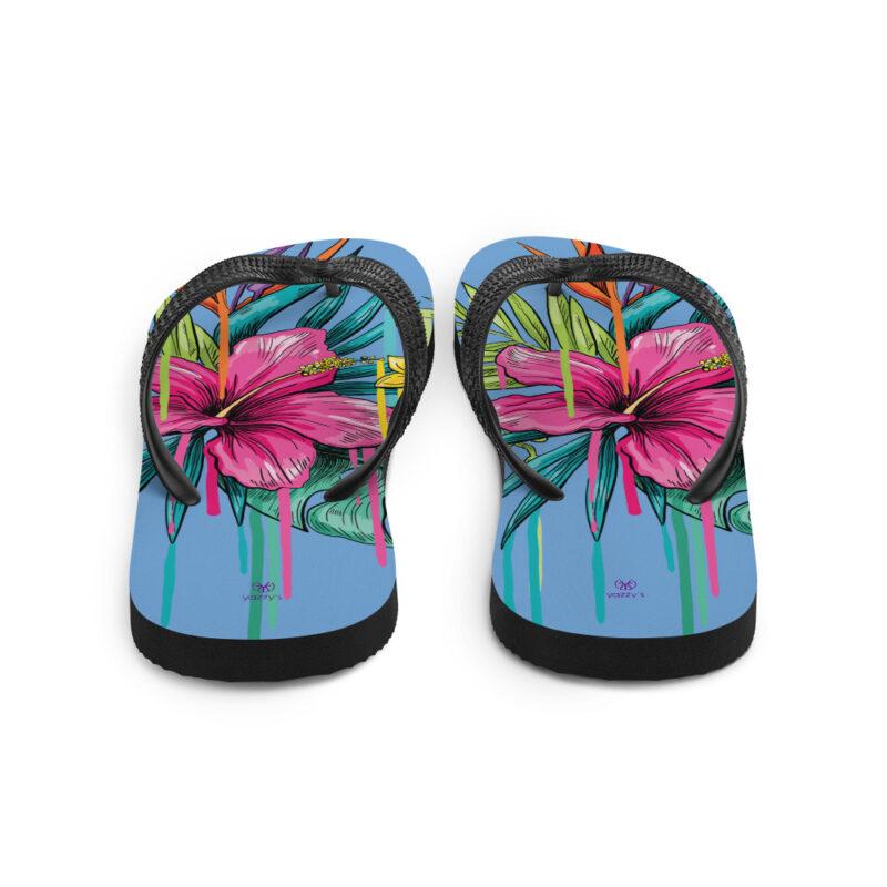 Floral Multi Colour Flip Flops