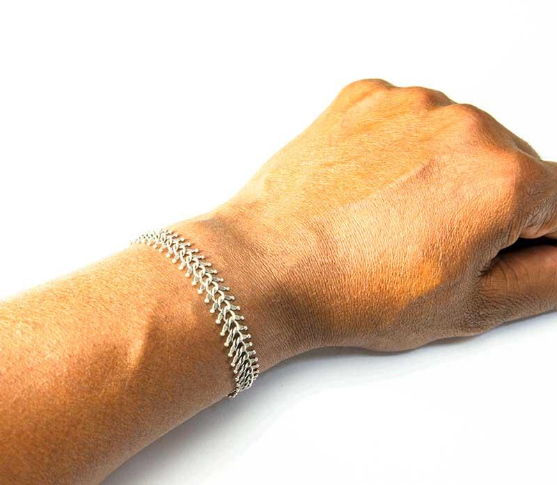 spine bracelet metal handmade jewellery