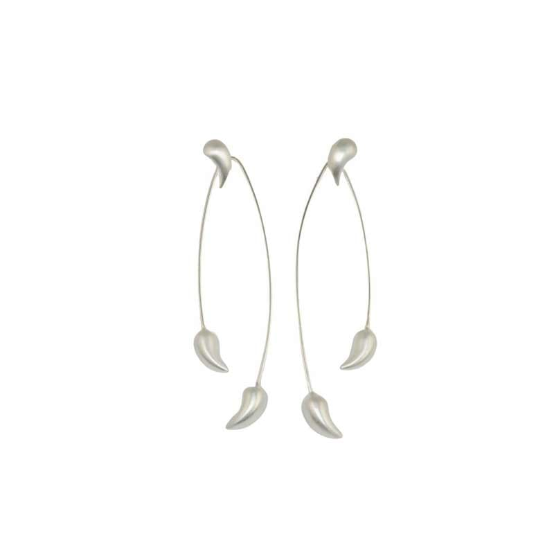 Chilli Pepper Earrings Sterling Silver