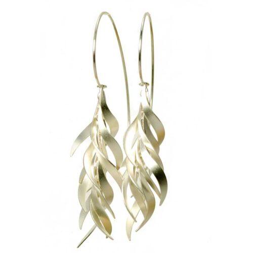 fire earrings silver sterling