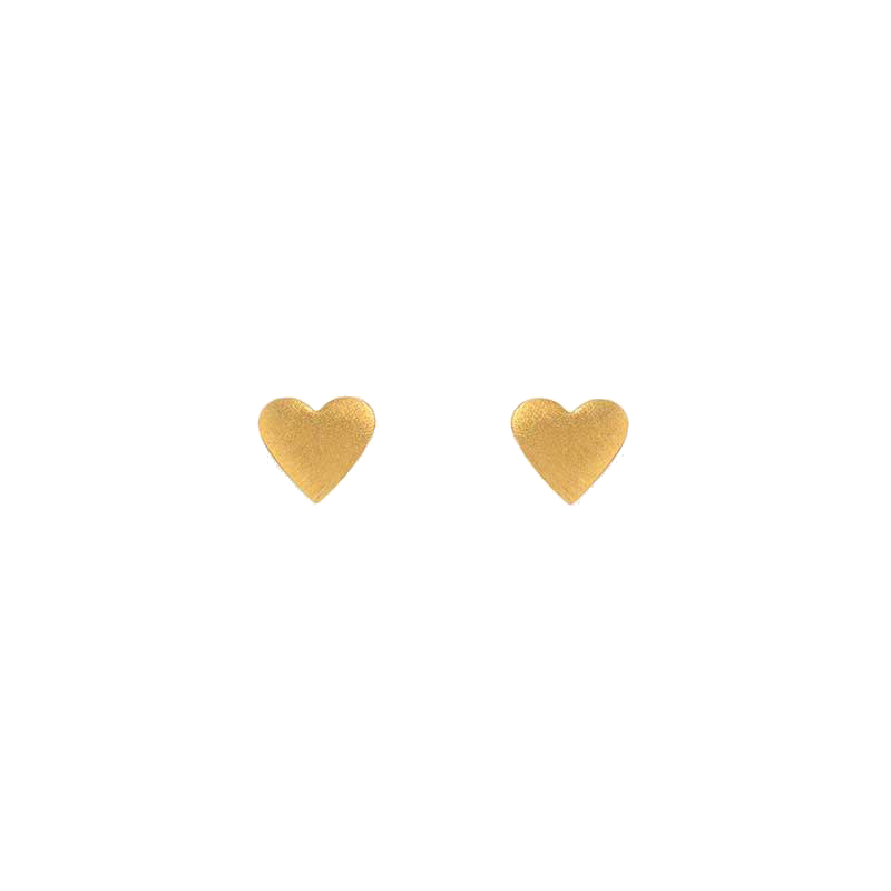 Silver Gold Plated hearts stud earrings