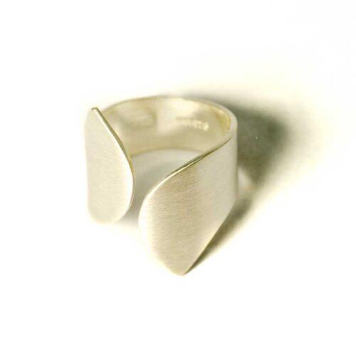 geometrische sterling zilveren ring