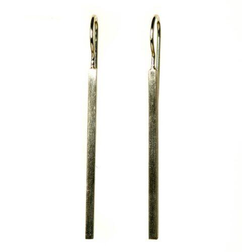 Zilveren Oorbellen Staafjes Zilveren dames sieraden
