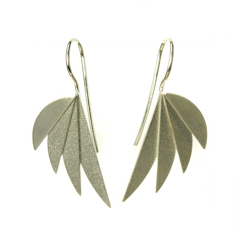Fan Earrings Silver