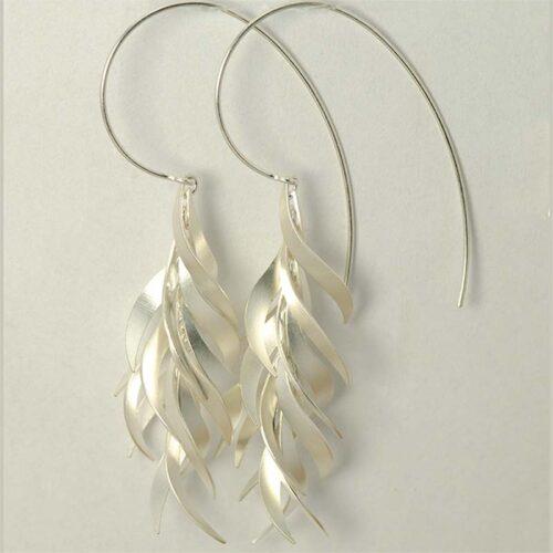 Fire Earrings Sterling Silver