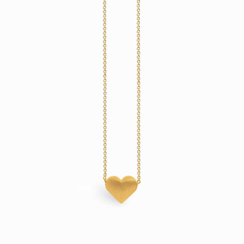 Silver heart necklace gold plated