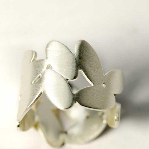 blaadjes ring sterling zilver