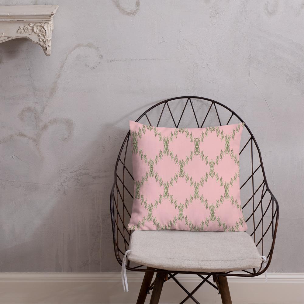patterned cushions premium green pink Premium Roze Groene Sierkussens