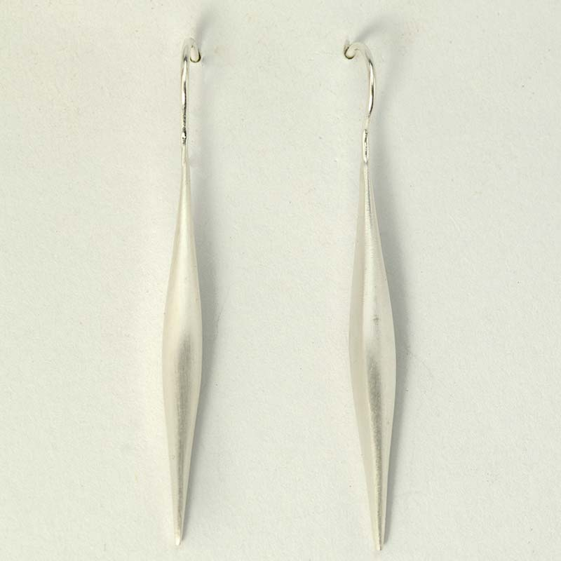 long silver drop earrings