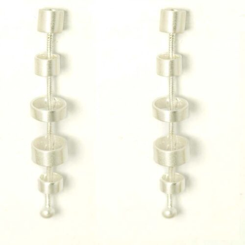 Tubular Silver Earrings