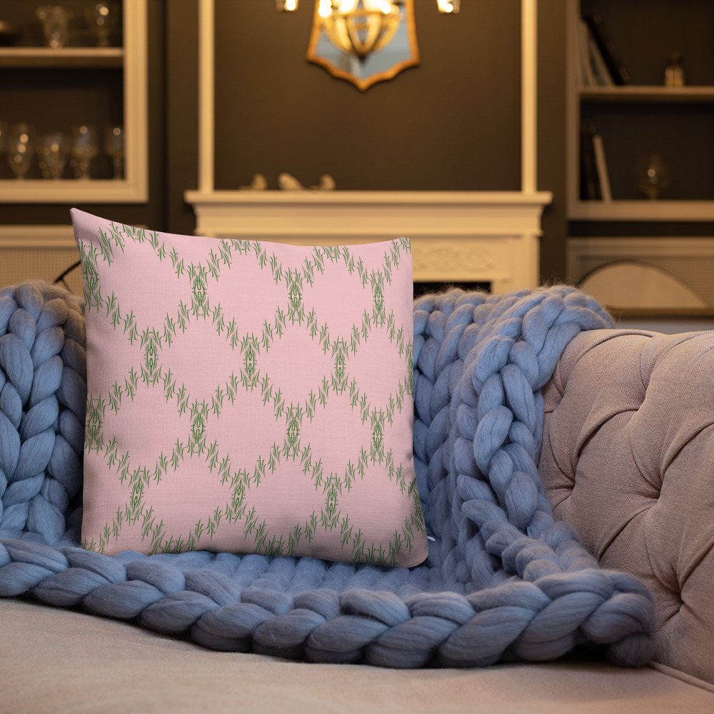 scatter cushions special Premium Green Pink Cushions
