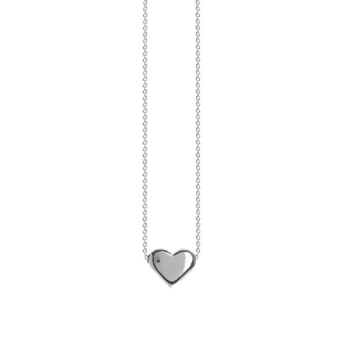 Silver heart necklace Sterling Silverr