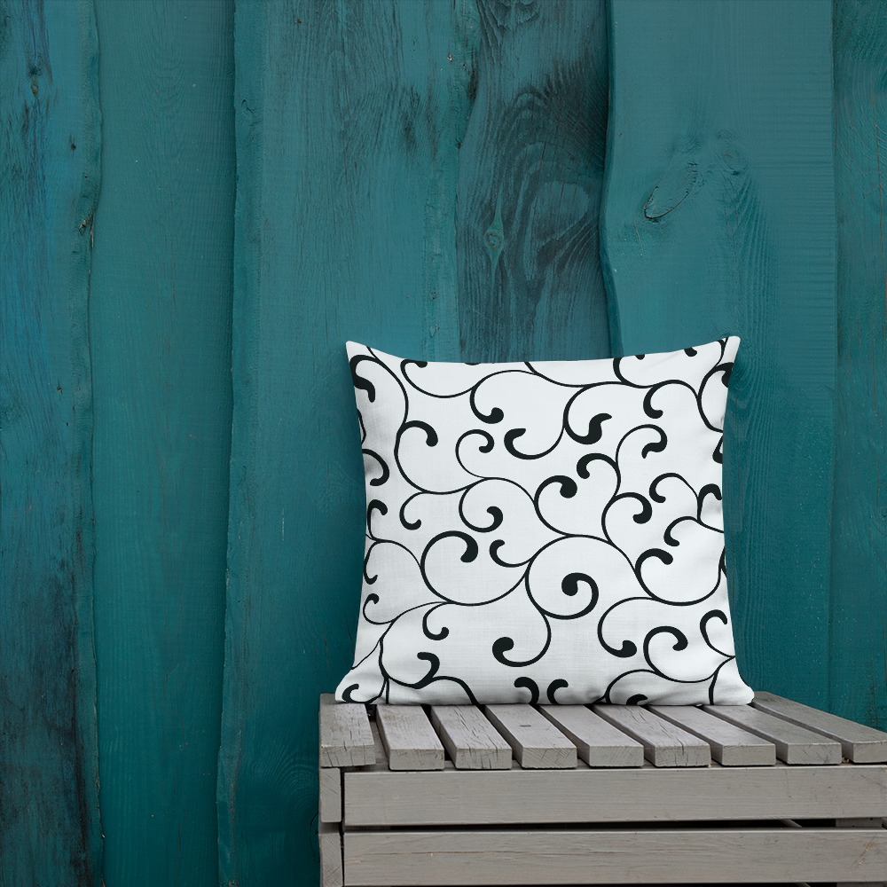 swirl premium cushions in black and white Swirl Premium Cushions