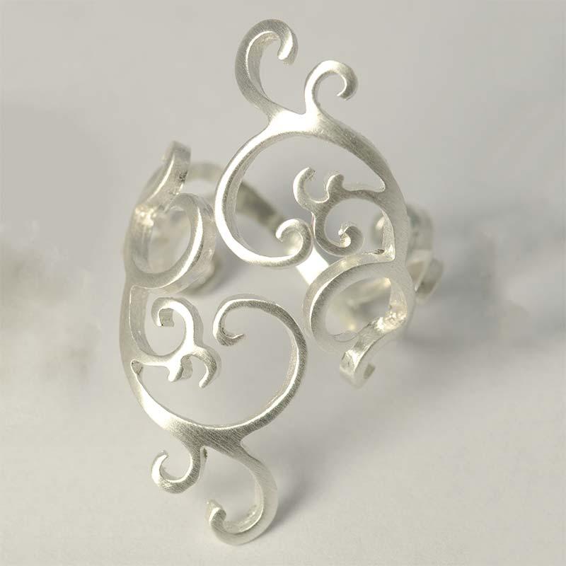 Swirl Sterling Silver Ring