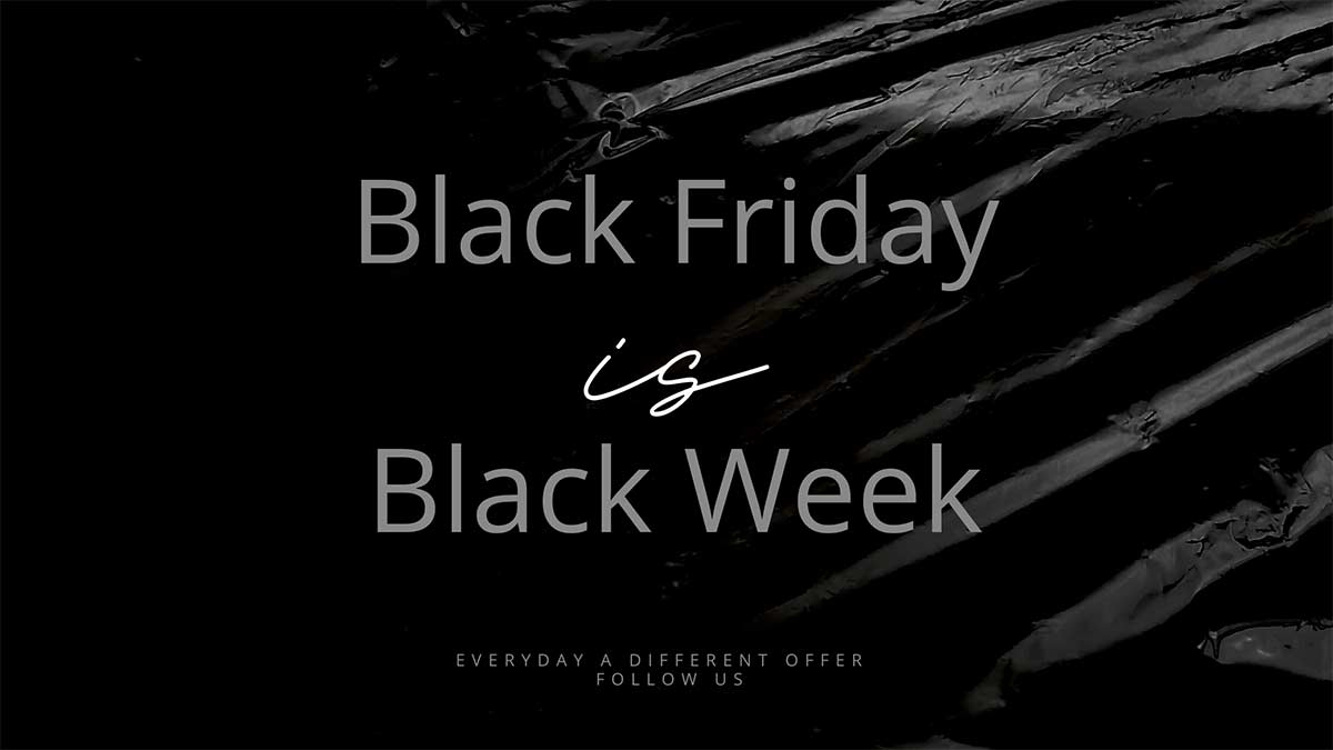 Black friday is Black week at Yazzy's Fashion Accessories